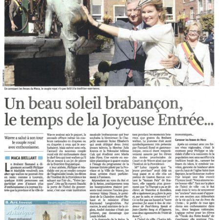 La Libre Belgique, 11.9.2013