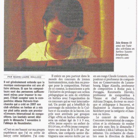 Luxemburger Wort, 4.11.2010