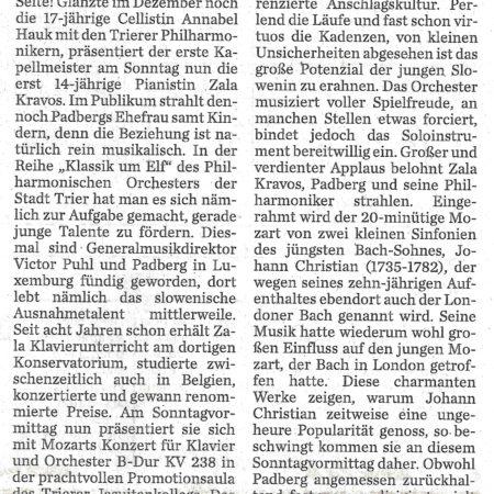 Trierischer Volksfreund, 31.01.2017